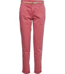 pants woven byxa med raka ben rosa esprit casual