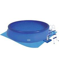 piscina inflável redonda mor splash fun,14000 litros, com filtro, escada, capa e forro - 1063