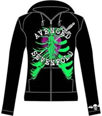 avenged sevenfold a7x heart attack rock band juniors t tee zip-up hoodie s-xl