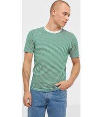 selected homme slhtheperfect stripe ss o-neck tee t-shirts & linnen grön