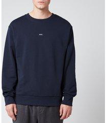 a.p.c. men's steve sweatshirt - dark navy - xxl