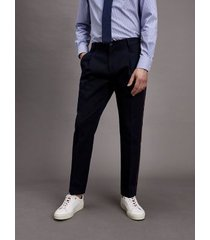 tommy hilfiger men's piped relaxed fit trouser navy - 44
