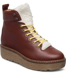 bex l shoes boots ankle boots ankle boot - flat brun shoe the bear