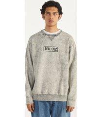 acid wash sweatshirt met print