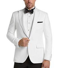 egara white pique slim fit dinner jacket