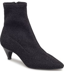 boot high textile shoes boots ankle boots ankle boots with heel svart sofie schnoor