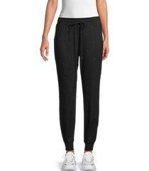 splendid women's embroidered jogging pants - olive - size s