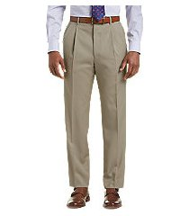 executive collection traditional fit pleated dress pants by jos. a. bank