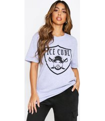ice cube shield license oversized t-shirt, grey marl