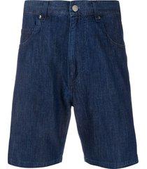aspesi straight leg denim shorts - blue
