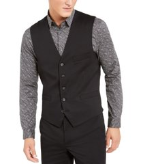 inc men's slim-fit stretch twill vest, created for macy's