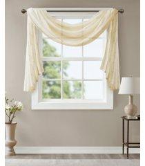 "madison park irina 50"" x 144"" embroidered diamond sheer window scarf"