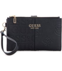 guess kaylyn double zip organizer wallet