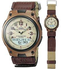 reloj deportivo casio aw-80v-5b- beige