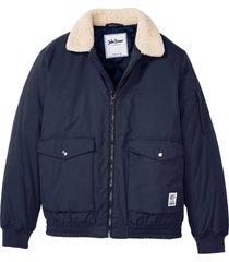 bomber con colletto in pellicciotto sintetico (blu) - john baner jeanswear