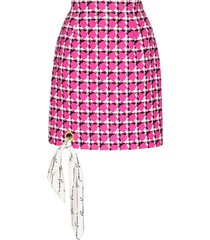 scarf detail houndstooth skirt