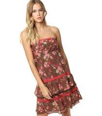 vestido marrón sophya sara