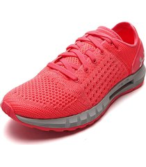 tenis running coral-gris under armour ua w hvr sonic nc