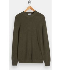 mens green olive turtle neck knitted sweater