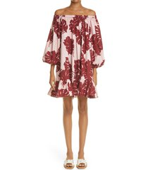 women's ladouble j paloma off the shoulder cover-up dress, size x-large - pink (nordstrom exclusive)