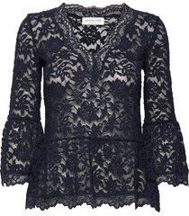 t-shirt 3/4 s blouse lange mouwen blauw rosemunde