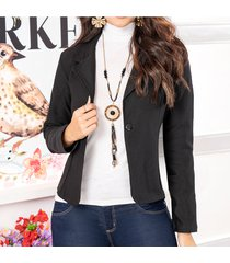 blazer araceli negro para mujer croydon