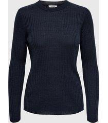 sweater jacqueline de yong azul - calce regular