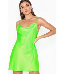 nly one satin slip dress loose fit