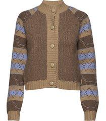 knit pattern stickad tröja cardigan multi/mönstrad ganni
