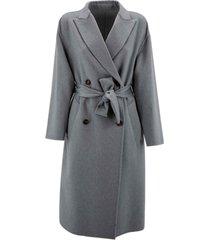 brunello cucinelli drop shoulder coat