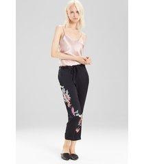 key double layer cami pajamas, women's, red, 100% silk, size l, josie natori