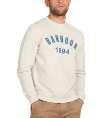 barbour men's john logo crewneck sweater