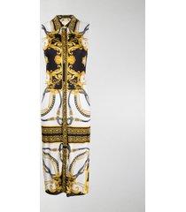 versace barocco rodeo print sleeveless shirt dress