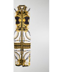 versace barocco rodeo print sleeveless shirt dress