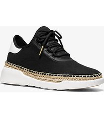 mk sneaker finch in pelle e tela - nero (nero) - michael kors