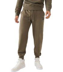 men's true religion brand jeans core horseshoe cotton blend joggers, size xx-large - green