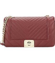 lara quilted leather shoulder bag