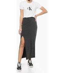 blusa feminina estampa ck branca calvin klein jeans - pp