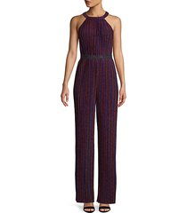 striped wide-leg jumpsuit