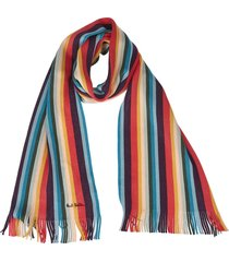 multicolor striped scarf