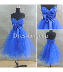 royal blue tulle homecoming dress,formal party dress,cocktail dress,party dress