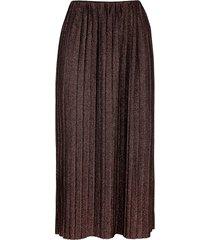 plisserad kjol mona kopparfärgad