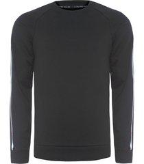 blusa masculina moletom lounge - preto