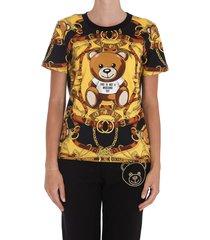moschino teddy bear scarf t-shirt