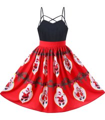 santa claus strappy swing dress