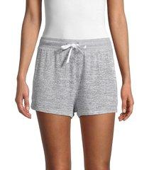 rag & bone women's space-dye drawstring shorts - light grey - size s