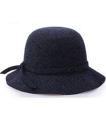 cappello di buca della marea delle onde delle lane delle donne cappello jazz elegante del legame dell'arco britannico di stile