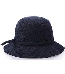 cappello in lana da donna fedora dome cappello elegante in stile british bow tie