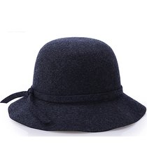 cappello in lana da donna fedora dome cappello elegante in stile british bow tie