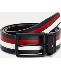 tommy hilfiger men's reversible leather belt corporate / black - 34